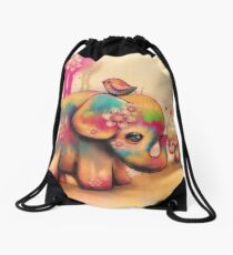 Vintage Tie Dye Elefanten Turnbeutel
