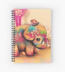 vintage tie dye elephants Spiral Notebook