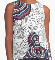 abstract wavy pattern Contrast Tank