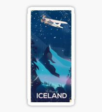 Iceland Mountains classic  Travel poster Sticker