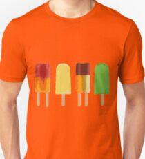 Ice lollies on black Unisex T-Shirt