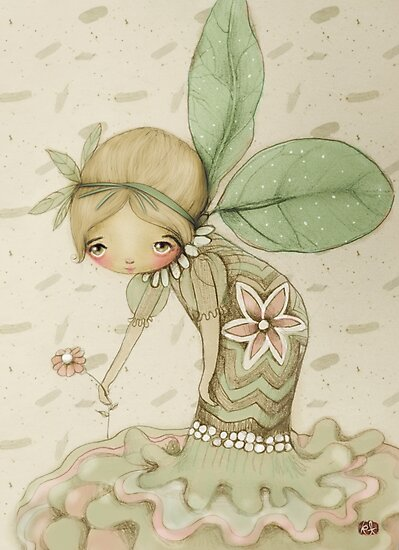little leaf fairy by Karin Taylor