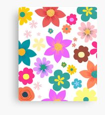 Flowers Collection Canvas Print