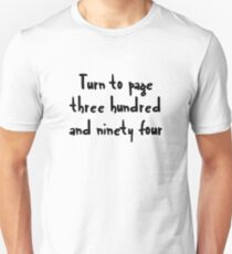 Turn to page three hundred and ninety four T-Shirt