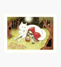 lost red riding hood Art Print