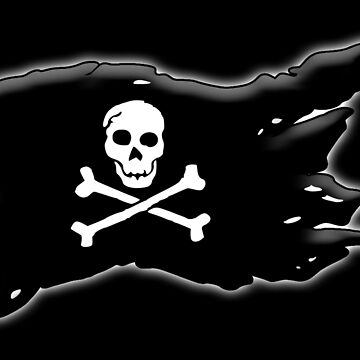Pirate, FLAG, Skull & Crossbones, Jolly Roger, Buccaneers, Me Harties! by TOMSREDBUBBLE