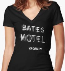 Psycho - Bates Motel Sign Women's Fitted V-Neck T-Shirt