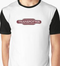 TRAINSPOTTER, Train spotter, RAIL, RAILFAN, RAIL, enthusiast, Railway, Train, BRITISH RAILWAYS, SIGN Graphic T-Shirt
