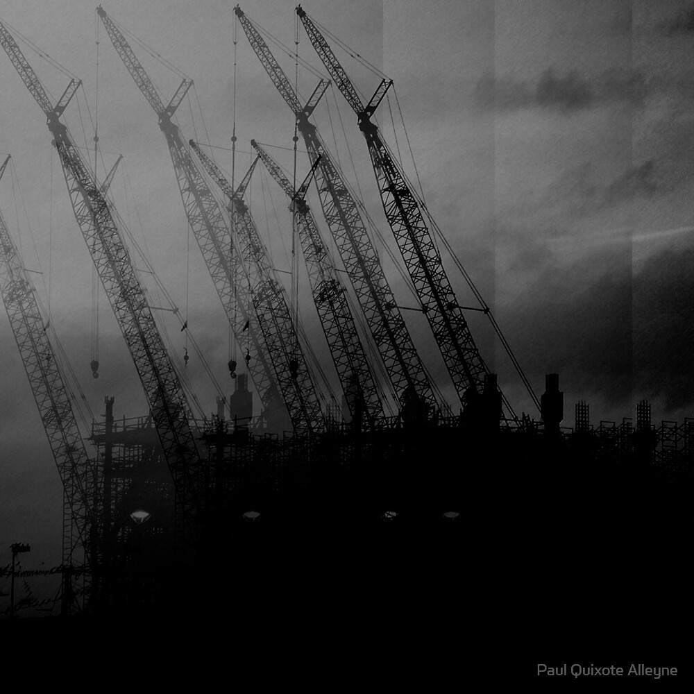 NESTING CRANES No.4 by Paul Quixote Alleyne