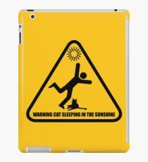 Trip Hazard Sign - Cat Sleeping in sunshine iPad Case/Skin