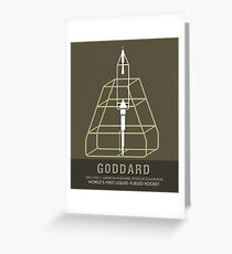 Science Posters - Robert.H.Goddard - Engineer, Physicist, Inventor Greeting Card