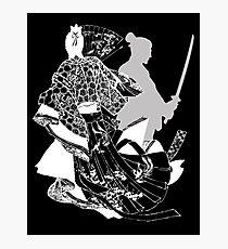 samurai sword white Photographic Print