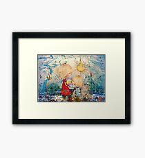 sun and sea Framed Print