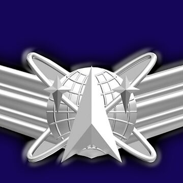 SPACE, American, Air Force, Basic, Space Operations Badge, US, USA, America, American by TOMSREDBUBBLE