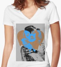Dietrich Heart #7 Women's Fitted V-Neck T-Shirt