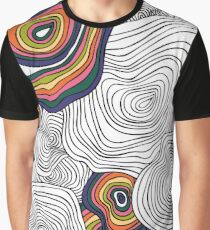 abstract wavy pattern Graphic T-Shirt