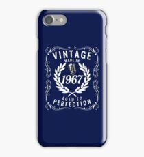 Vintage Made In 1967 Birthday Gift Idea T Shirt iPhone Case/Skin