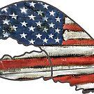 «Bandera de Estados Unidos Bandera americana Garra de langosta» de Statepallets