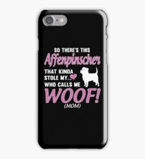 Affenpinscher My Heart Woof Mom funny gift t-shirts iPhone Case/Skin