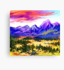 Sunset at valley Canvas Print