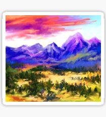 Sunset at valley Sticker