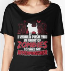 Affenpinscher Save My Dog Zombies funny gift t-shirts Women's Relaxed Fit T-Shirt