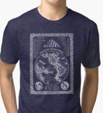 Western Hemisphere Map Print Tri-blend T-Shirt