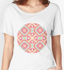 Ethnic geometric pattern with elements of traditional tribal folk style.  Women's Relaxed Fit T-Shirt