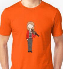 Violin Girl - Red Jacket Unisex T-Shirt