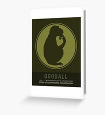 Science Posters - Jane Goodall - Anthropologist, Primatologist Greeting Card