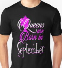 Queens Are Born In September Pride Tshirt T-Shirt  Unisex T-Shirt