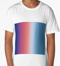 Ombre Clouds 1 Reversed  Long T-Shirt