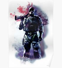 Rainbow Six Siege Smoke Watercolor Poster