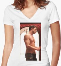 jamie dornan shirtless OIIi Women's Fitted V-Neck T-Shirt