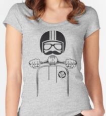 Vespa Dude Women's Fitted Scoop T-Shirt