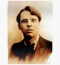 William Butler Yeats, Literary Legend by Mary Bassett Poster