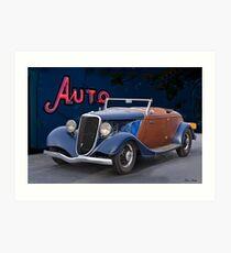 1934 Ford 'Auto Repair' Roadster Art Print