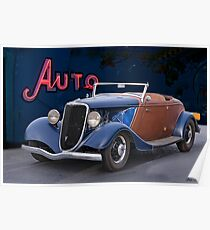 1934 Ford 'Auto Repair' Roadster Poster