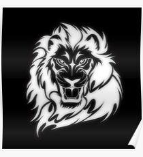 BW Lion Poster