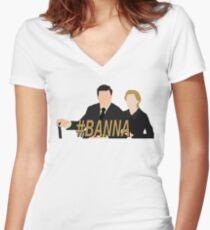 DA #Banna Women's Fitted V-Neck T-Shirt