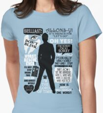 Doctor Who - 10th Doctor Quotes Womens Fitted T-Shirt