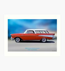 1957 Chevrolet 'Fuel Injected' Nomad Wagon Art Print