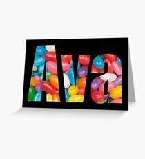 Ava -- personalized gifts Greeting Card