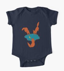 Foxes at the Watering Hole One Piece - Short Sleeve