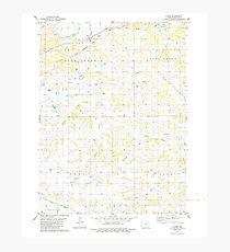 USGS TOPO Maps Iowa IA Floris 174665 1979 24000 Photographic Print