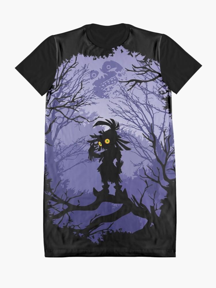 Vista alternativa de Vestido camiseta Máscara de Zelda Majora Skullkid