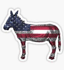 USA Flag Donkey Sticker