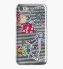 Vintage Bicycle Free Motion Embroidery iPhone Case/Skin
