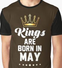 Birthday Boy's Tee - Kings are born in May T-Shirt Graphic T-Shirt