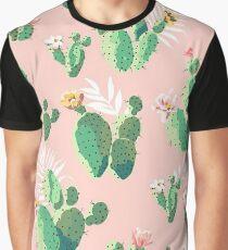 Cactus Pattern Graphic T-Shirt